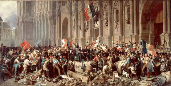 Lamartine in front of the Hôtel de Ville de Paris, on the 25 February 1848, by Philippoteaux